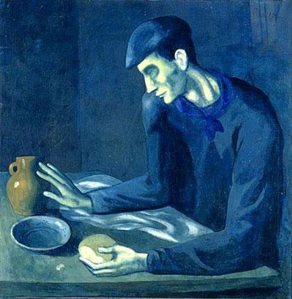 盲人の食事 1903年 ピカソ 青の時代