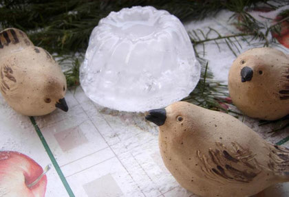 Frostsichere Keramikvögelchen