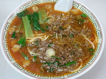 おすすめの坦々麺