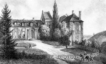 Château de Cirey, début XIXème s,BNF estampes et photographies,  VA 52, folio, t.1