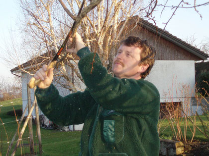 Paul Baur bei der Arbeit