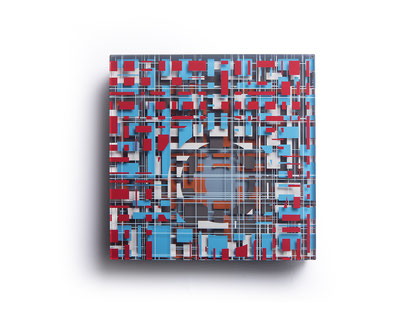 Mirny | glued, polished glass, acrylic paint  | 25 x 25 x 6 cm  | 2020