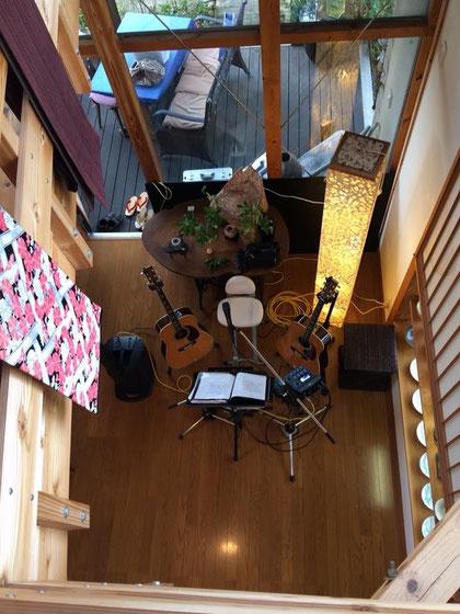 10/14 愛媛県砥部町の桃太郎窯でのライブ