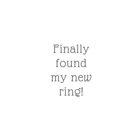 Finally found ma new ring!