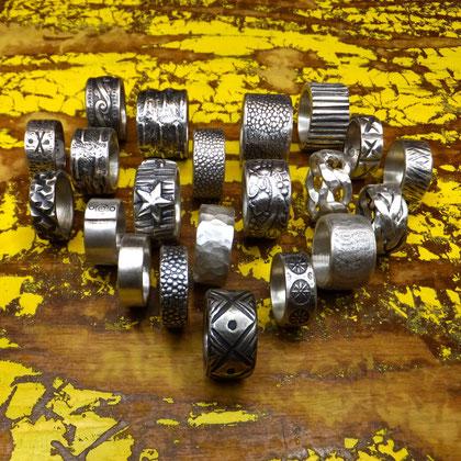 Männerringe massive Silberringe handgefertigter Fingerschmuck