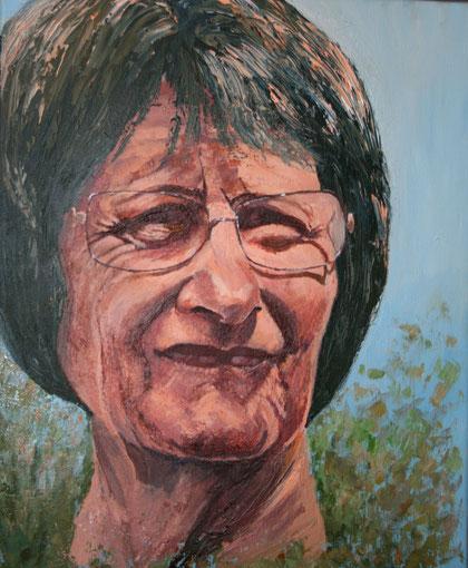 Jeannette, huile sur toile 38 x46