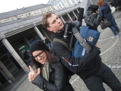 J1T-Reporter 2012 bei der TV-Arbeit
