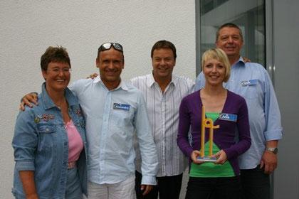 mit dem gesamten Rateteam: v.l.n.r. Kerstin, Alexandro aus Trebur, Jörg Bombach, Julia aus Dautphetal und Uwe aus Calden