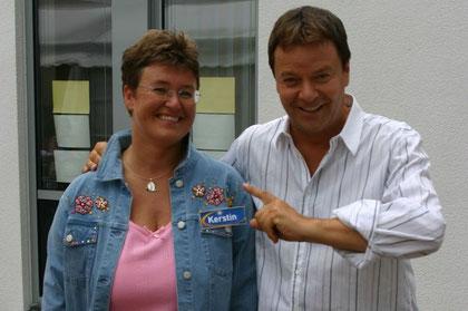 mit Moderator und HR3-Chef Jörg Bombach nach der Sendung