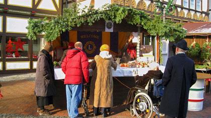 Aufbau für den Weihnachtsmarkt