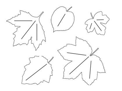 Herbstblätter Schablonen 2