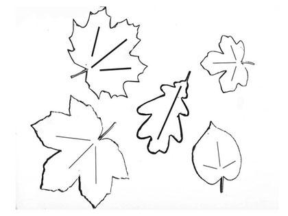 Herbstblätter Schablonen 1