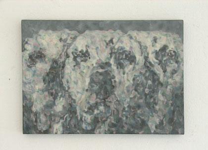 出品作品 「ふたしかな日々」 F4号 アクリル絵具、綿布、パネル