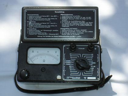 Hartmann & Braun Universal Multimeter Typ. I R U - Militär