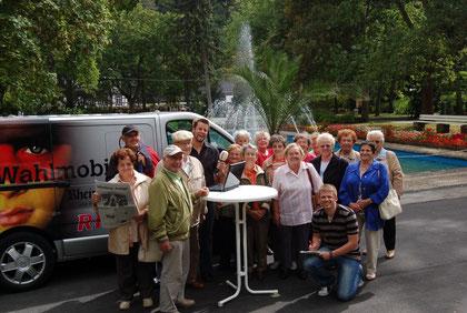 Das Wahlmobil unserer Zeitung und von RPR1 machte Station in Bad Münster am Stein- Ebernburg. Foto: Maximilian Eckhardt