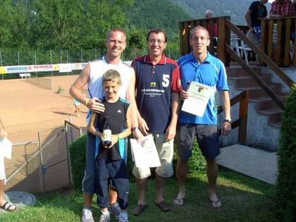 Schinagl Thomas m.Sohn, Obm. R. Zawrel, Stefan Rotheneder - 2. Platz Bewerb I