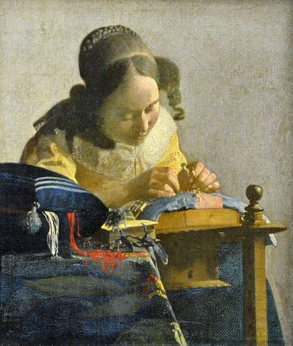 Самые известные картины Вермеера Делфтского - Кружевница