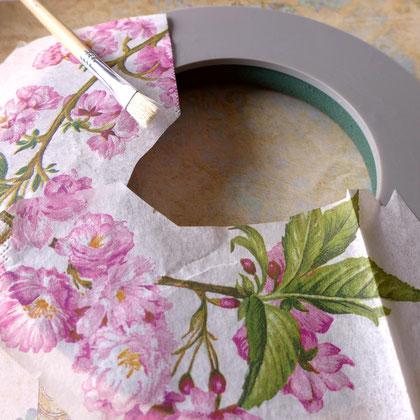 Dekoration - Herbstlicher Türkranz aus Hortensienblüten - DIY-Projekt