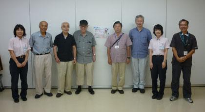 集まったメンバーと職員さん。ありがとうございました。