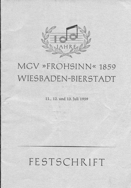 Die noch erhaltene Festschrift zum 100jährigen Bestehen