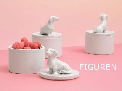 Tierfiguren Porzellan Dackel Rehkitz Teller Dosen Berlin