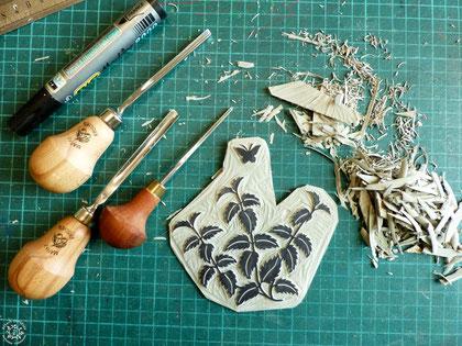 #gravure #linogravure #ancien #papier #kitschparadise #kp #artisan #créateur #artisanat