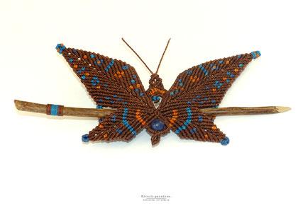 kp kitsch-paradise artisans créateurs barrette papillon macramé