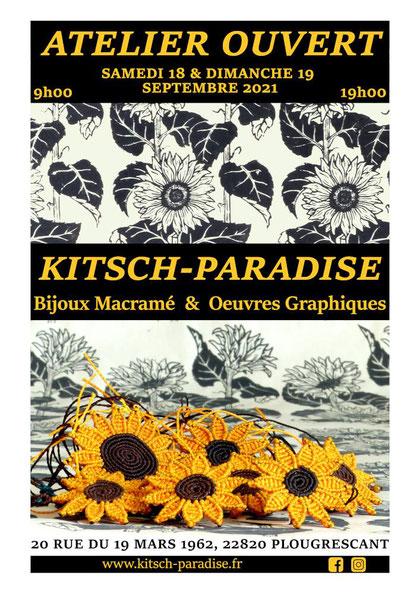 affiche atelier espace création intimité porte ouverte kitsch-paradise