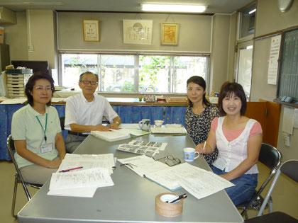 朝陽公民館の職員のみなさんです❤皆さんとても親切で、明るい(>_<)