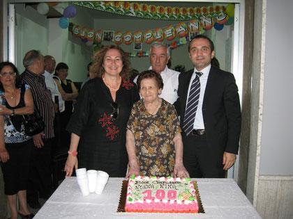 Nonna Nina nel giorno dei suoi 100 anni