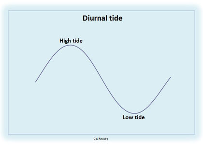 Diurnal tidal cycle
