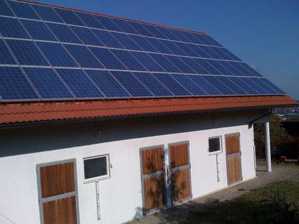 Stallgebäude 17,48 kwp, Yingli YL230P-29b, 4x SMA SB4000TL-20, 1x SolarLog 1000BT