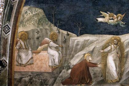 Noli me tangere, Giotto, Basilica di San Francesco, Assisi, 1307 - 1308