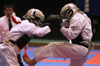 Combattants de Nippon Kempo lors du Championnat de All Japan Nippon Kempo Federation