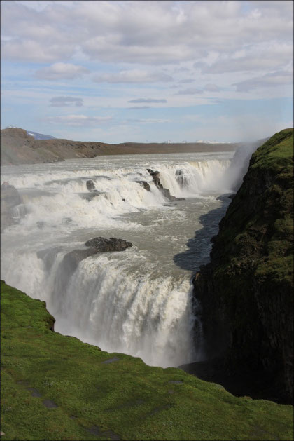 Gullfoss - der goldene Wasserfall