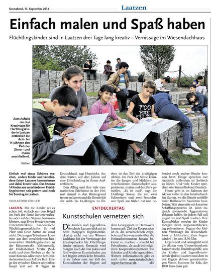 Leine-Nachrichten v. 13.09.2014