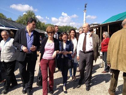 Inauguration de la foire des quinconces par Monsieur et Madame Alain et Isabelle JUPPE, accompagné de Mr Bertrand LECAT, Laurence DESSERTINE, Maribel BERNARD