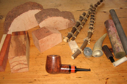 Materialien für den Pfeifenbau