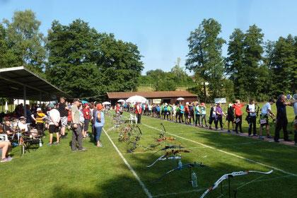 Esslinger Bogenschützen bei der Landesmeisterschaft Bogen im Freien in Welzheim