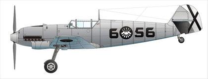 "Messerschmitt Bf109C der ""Legion Condor ( Wikimedia Commons, Bild B. Huber)"
