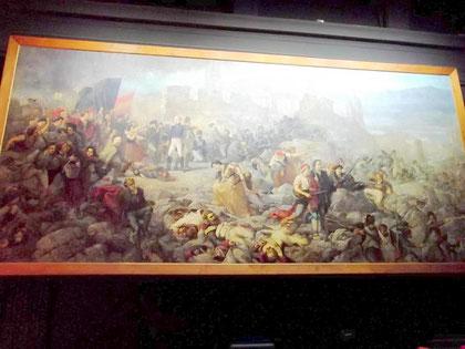 Das riesige Gemälde (11,90x5,40 m) - lange verborgen - an seinem heutigen Platz