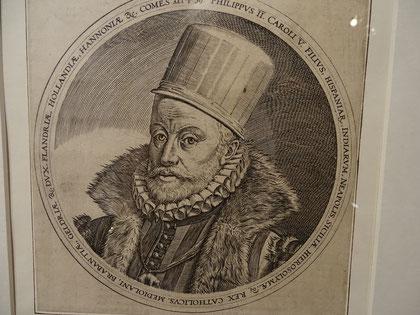 "Der alte Philipp II, ca. 1590 (anonymes Bildnis - in der Ausstellung ""Imatges per creure"", Barcelona)"