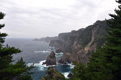 200-m cliffs at Kita-yamazaki