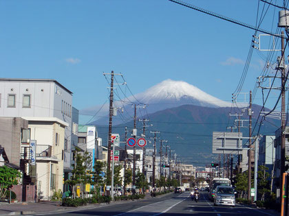 Mt. Fuji peeking over Numazu