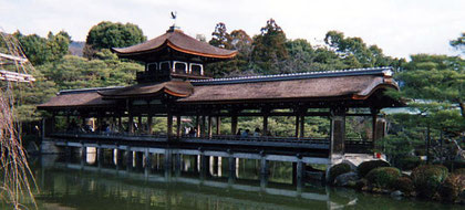 Covered bridge at Heian Shrine