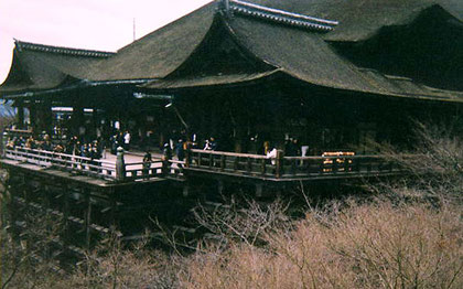 The veranda at Kiyomizu