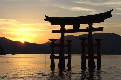 The floating gate at Miyajima