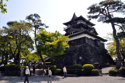 Maruoka Castle's central keep