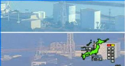 Fukushima Dai-ichi Power Plant before & after