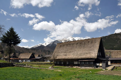 Gassho-zukuri houses in Shirakawa-go